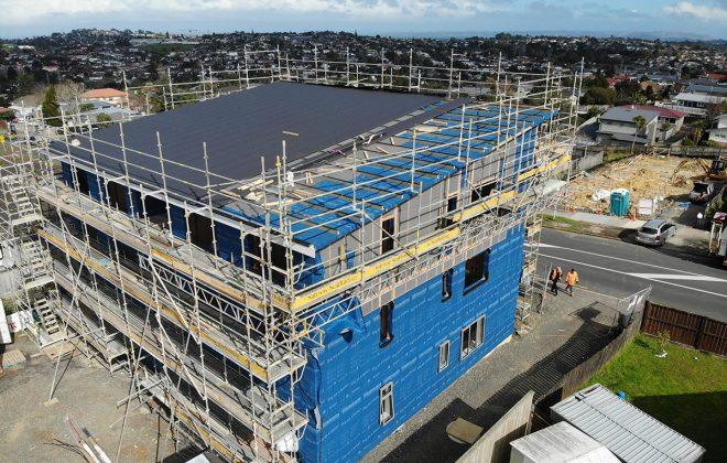 Pre-applied Building Underlay Protects CLT Panels from...