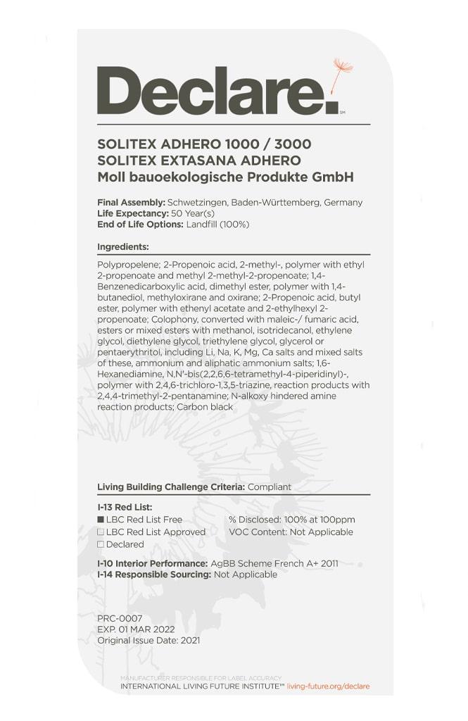 SOLITEX EXTASANA ADHERO Declare 2021_2022 new