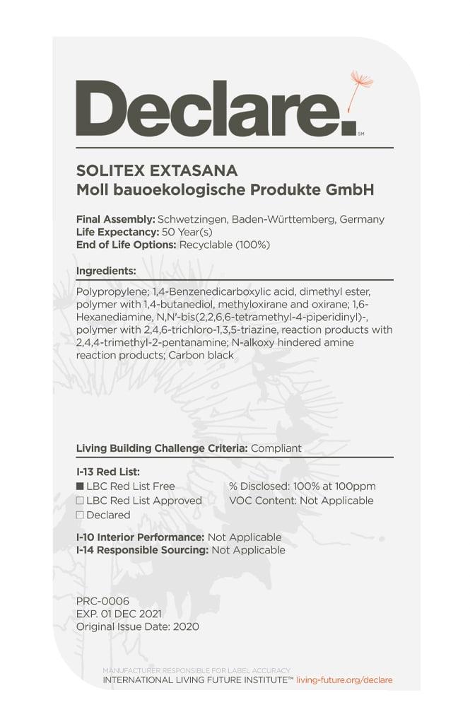 SOLITEX EXTASANA Declare 2020 2021